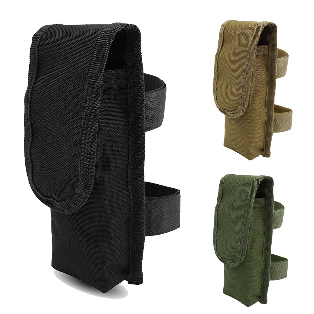 Tactical Battery Bag Military Magazine Pouch Airsoft Flashlight Holster Vest Belt Accessories Paintball Combat Torch Pack Holder