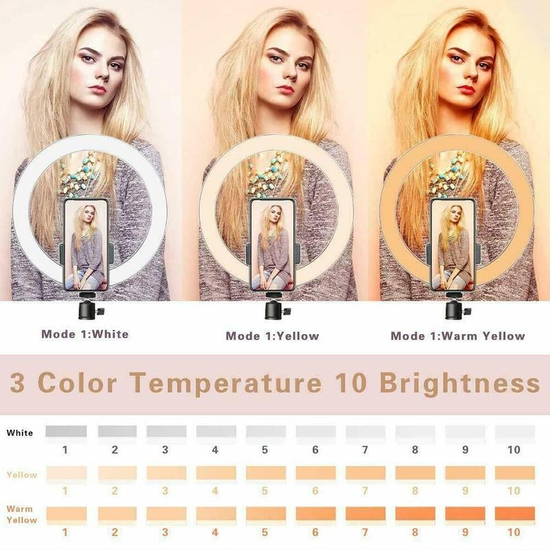 cheapest smartphone Photography LED Selfie Ring Light usb Dimmable Camera Phone Ring Lamp Table Tripods For Makeup Video Live Studio