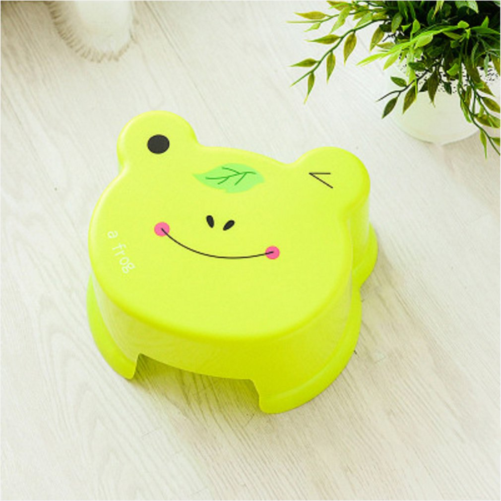 Cute Living Room Thick Plastic Stool Bathroom Bath Bench Cartoon Children Toddler Bench Shoes Bench Stool