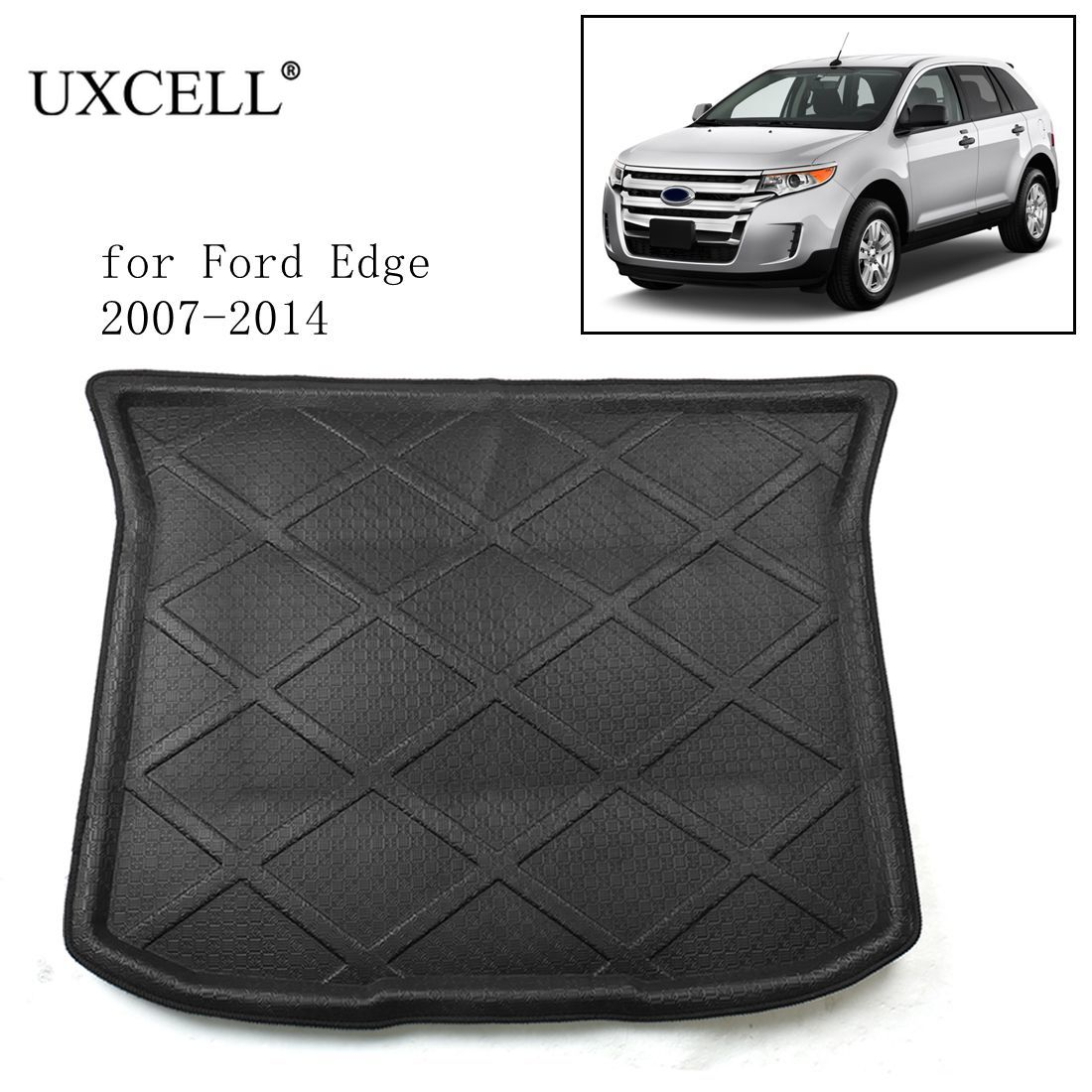 UXCELL Random Send PE+EVA Foam Black Rear Trunk Tray Boot Liner Cargo Car Floor Mat for Ford Edge 2007 TO 2018    -