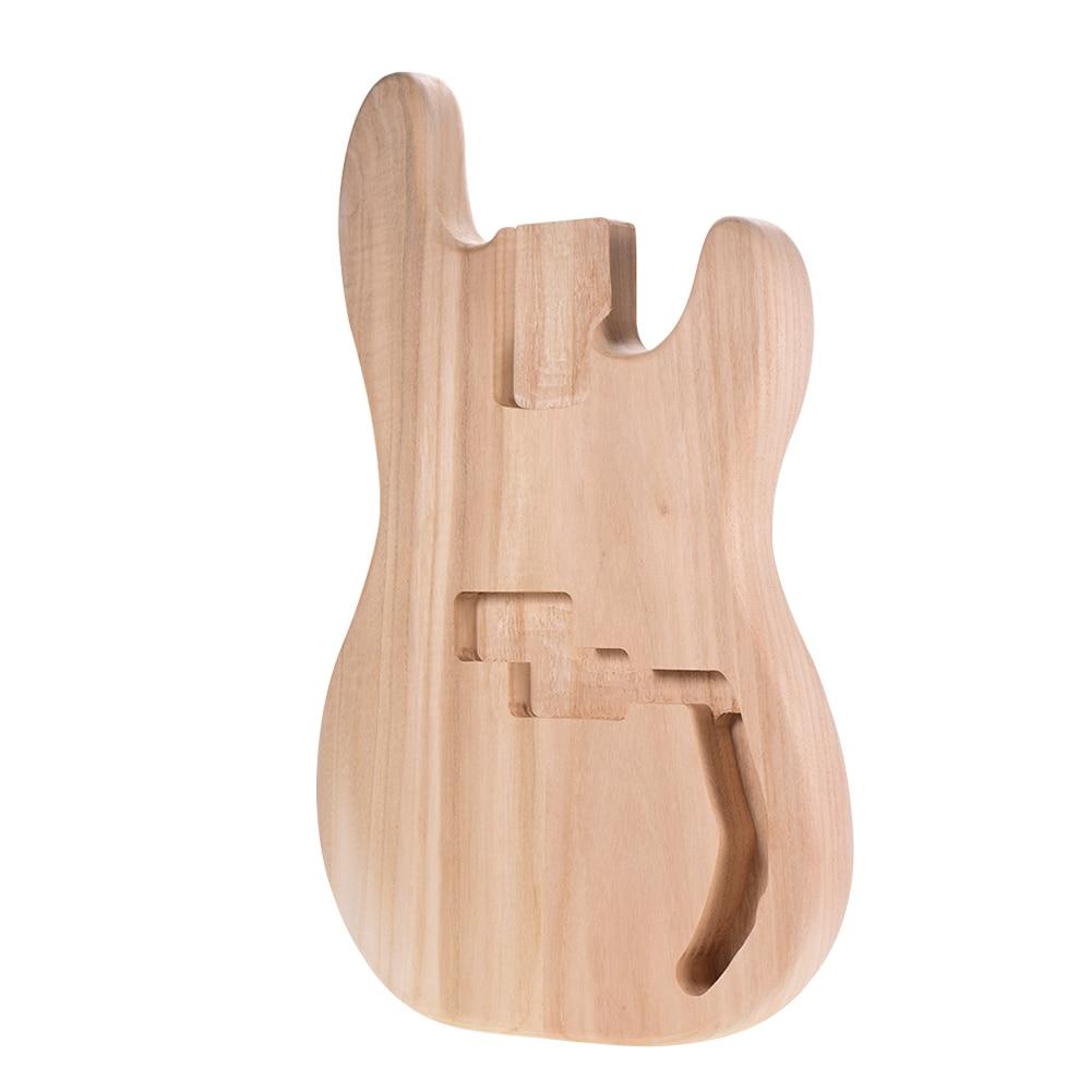 Muslady PB-T02 незавершенная электрогитара корпус Sycamore деревянный пустой корпус гитары для PB Стиль бас-гитары diy части