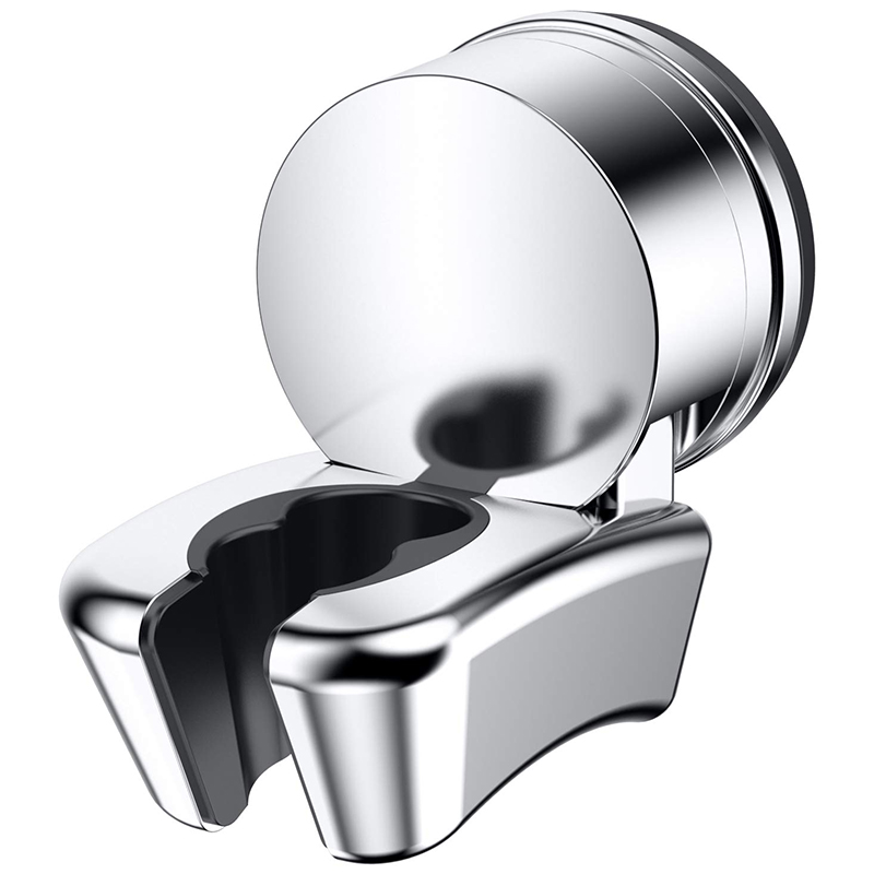 Set of 2 Chrome Finish Suction Cup Hook Holder Super Suction Easy push-but