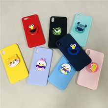 Cartoon Sesame Street Minnie Cases For Samsung Galaxy Note 9 8 3 4 5 note9 Soft Silicone TPU Cover 3D Phone Holder