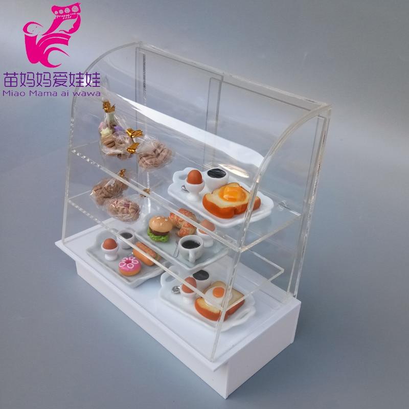 Casa de bonecas donuts diy acessórios sobremesa exibir caso 1/6 bjd ob11 blythe boneca foof modelo acessórios
