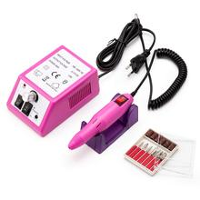 Electric Nail Drill Professional Nail Drill for Acrylic Nails Electric Nail File for Home Salon Use Pink nail for steel al alloy window use nails for home decoration use at good price free shipping