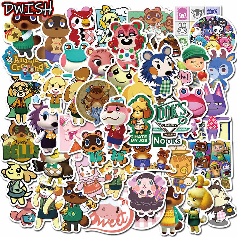 10/30/50 Stks/pak Cartoon Animal Crossing Stickers Waterdichte Bagage Laptop Skateboard Auto Leuke Grappige Graffiti Sticker Kids speelgoed