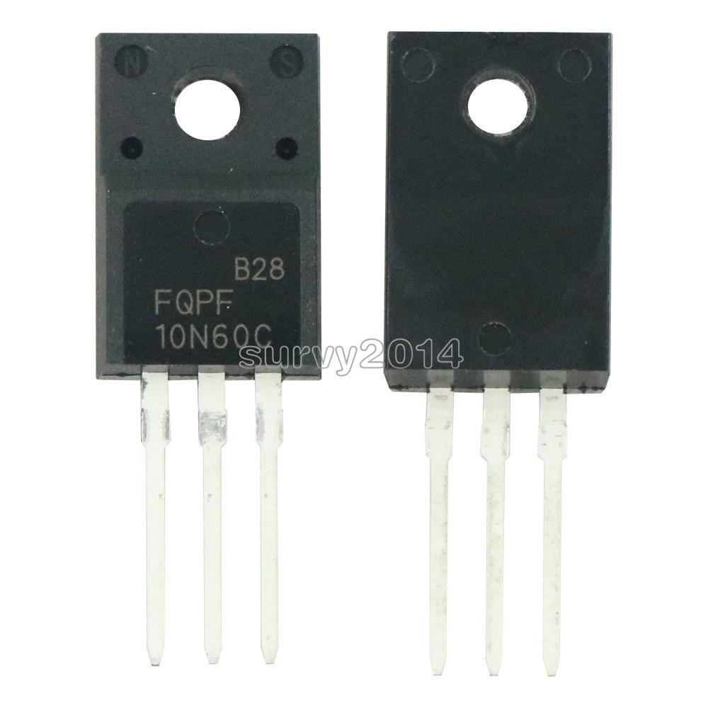5PCS FQPF10N60C TO-220 10N60C 10N60 TO220 FQPF10N60 New MOS FET Transistor NEW