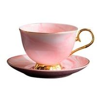 Hlzs marbre Phnom Penh tasse à café en céramique et soucoupe ensemble après midi thé tasse amoureux cadeaux|Ensembles à café|   -