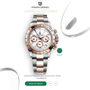 PAGANI Дизайн 2020 новые золотые мужские часы кварцевые Бизнес Мужские часы лучший бренд роскошные часы Мужские Хронограф Relogio Masculino
