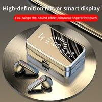 S20 Mirror-auriculares inalámbricos con Bluetooth 5,2, dispositivo de Audio estéreo con LED táctil 3D, deportivos, impermeables, con micrófono