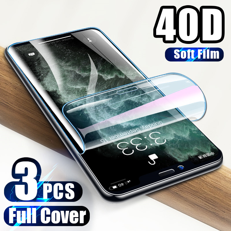 3Pcs 40D Screen Protector For <font><b>iPhone</b></font> 11 6 6s 7 8 Plus <font><b>X</b></font> <font><b>XS</b></font> On the for <font><b>iPhone</b></font> XR <font><b>XS</b></font> 11 Pro Max Soft Protective <font><b>Film</b></font> Not Glass image