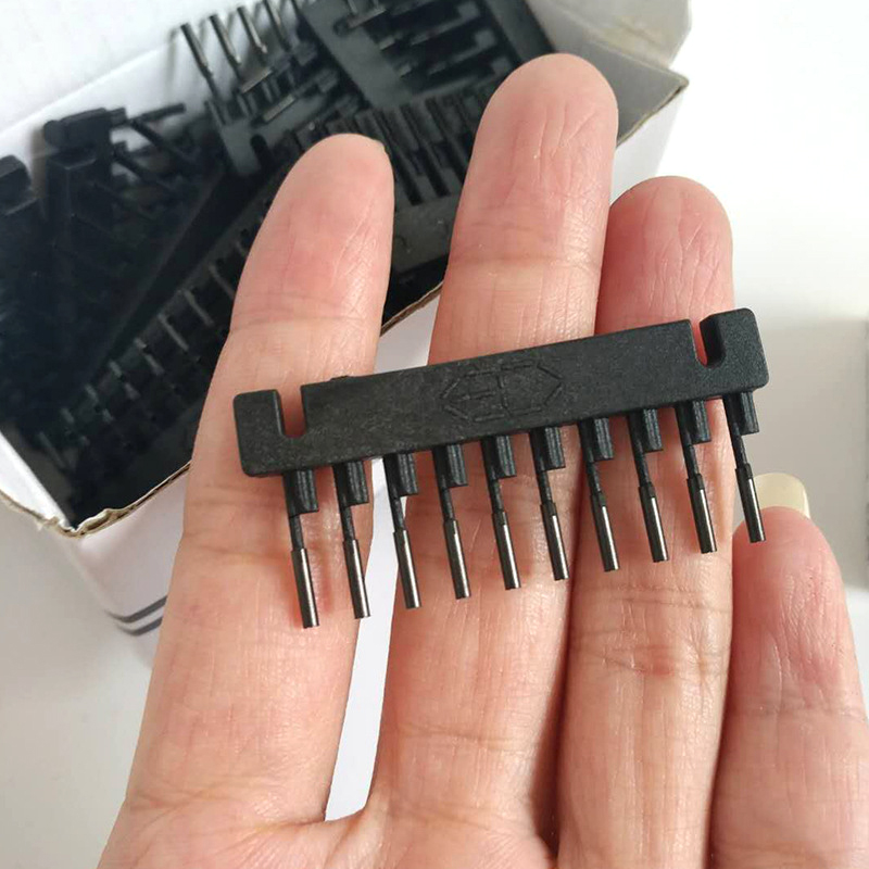 6D Hair Button 40/Batch Wig Connector Tool for 6D Hair Extension Machine