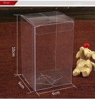 Wholesale 1000pcs Size 6*6*10cm Clear PVC Rectangle Boxes Wedding Favor/ Baby Shower/Bridal Candy Gift Box Souvenir Packing