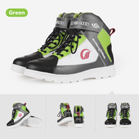 Motorcycle Boots Men Bike Motorbike Casual Shoes Microfiber Breathable Waterproof Skateboard Scooter shoes Colorful Design A018