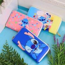 Disney w stylu kreskówki na monety torba ściegu piękny portfel kreskówka pu dziewczyna chłopiec karty gchildren uchwyt sprzęgła