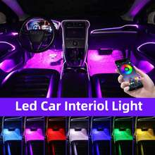 Led Car Foot Ambient Light With USB Cigarette Lighter Backlight Music Control App RGB Auto Interior Decorative Decorative Lamp