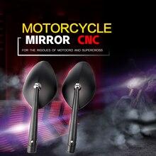 Universal CNC Aluminum motorcycle side mirror for Rizoma Harley Honda Suzuki Yamaha Hayabusa kawasaki Kawasaki KTM Victory стоимость