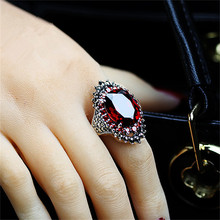 Retro imitation silver ring sweet romantic male and female couple natural stone ring personality exaggerated ring ov oriental vibrations ring male female