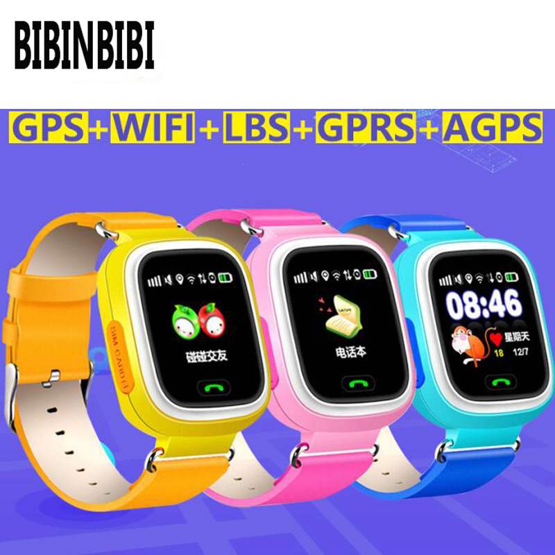 New Arrival <font><b>Q90</b></font> GPS Phone Positioning Fashion Children <font><b>Watch</b></font> 1.22 Inch Color Touch Screen <font><b>kids</b></font> SOS <font><b>Smart</b></font> <font><b>Watch</b></font> PK Q80 Q50 Q12 image