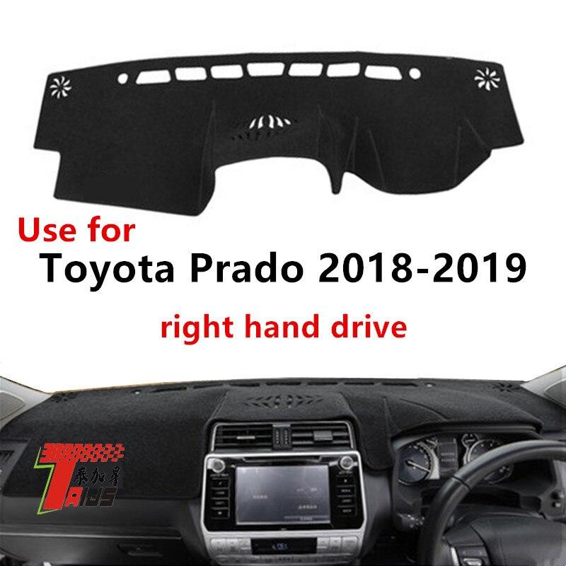 Taijs right hand drive car dashboard cover for Toyota Prado 2018 2019 protective polyester car dashboard mat for 18 19 Prado|Anti-Slip Mat| |  - title=