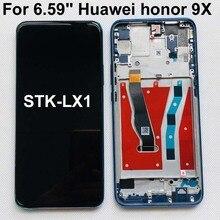 מקורי 6.59 אינץ עבור Huawei Honor 9X פרימיום הגלובלי מהדורה STK LX1 STK L22 LCD תצוגת מסך מגע Digitizer עצרת + מסגרת
