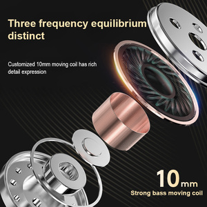 Image 5 - Original Fonge K1 Transparent In Ear Wired Earphone Subwoofer Stereo Bass Earbuds Sport Headset With Mic for iPhone Xiaomi AT