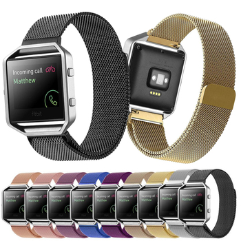 Milanese Loop Magnetic Watch Strap For Fitbit Blaze Smart Watch Band Mesh Stainless Steel Straps Bracelet Wristband With Frame