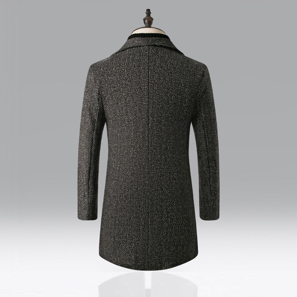 Vogue Brand Wool Blends Coat Men Autumn Winter Solid Warm High Quality Outwear Jackets Luxurious Windbreaker Overcoats Male