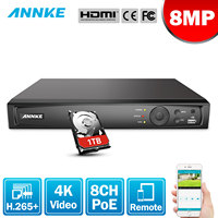 ANNKE 8CH 8MP POE NVR Network Video Recorder NVR For POE IP Camera P2P Cloud Function Plug And Play