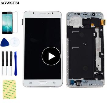 Pour+Samsung+Galaxy+J7+2016+LCD+tactile+J710FN+LCD+%C3%A9cran+tactile+pour+Samsung+J710+SM-J710F+J710M+J710H+assembl%C3%A9e+avec+cadre