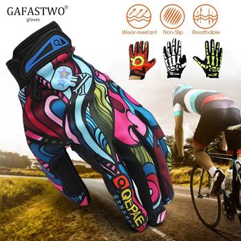 Jazda na rowerze rękawice Qepae rębak do uprawiania sportów na świeżym powietrzu antypoślizgowe jesień dostaw lokomotywa rowerowe pełne rękawiczki rękawice tanie i dobre opinie GAFASTWO Lycra Dla dorosłych Drukuj Nadgarstek Nowość GT0003