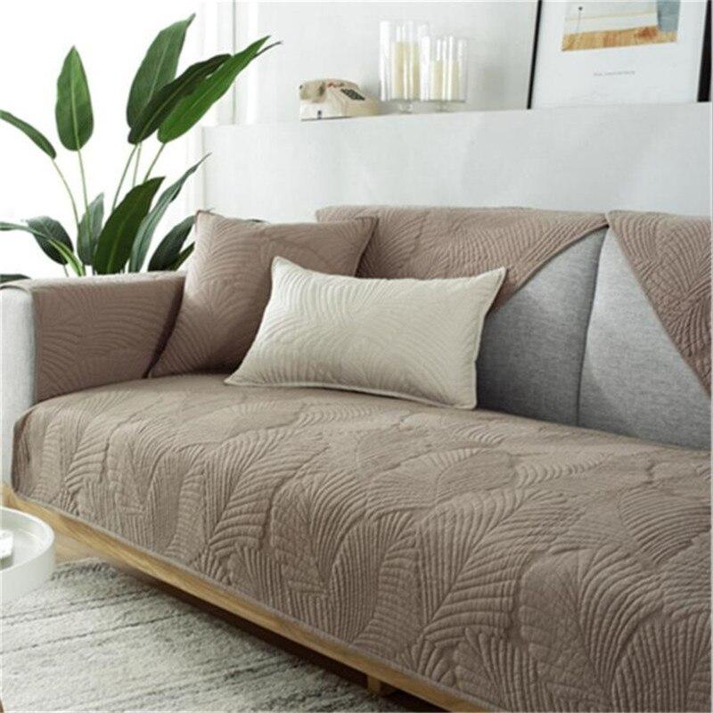 Nordic простой узор в виде банановых листьев для диванов натуральный хлопок ткань диванную подушку нескользящий коврик для питомцев, Four Seasons универсальный чехол для дивана|Чехлы для диванов| | АлиЭкспресс