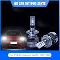 2 шт. для FAW-Volkswagen Golf6 2009-2010 светодиодный автомобильный светильник Анти-туман лампа H7 H15 9006 Автомобильный светодиодный светильник головной св...