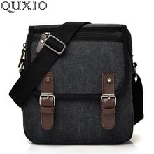 2019 New Canvas Men Messenger Bag Zipper Flap Shoulder Bag Male Fashion Casual Travel Crossbody Bags Black Brown Kahki HB137(China)