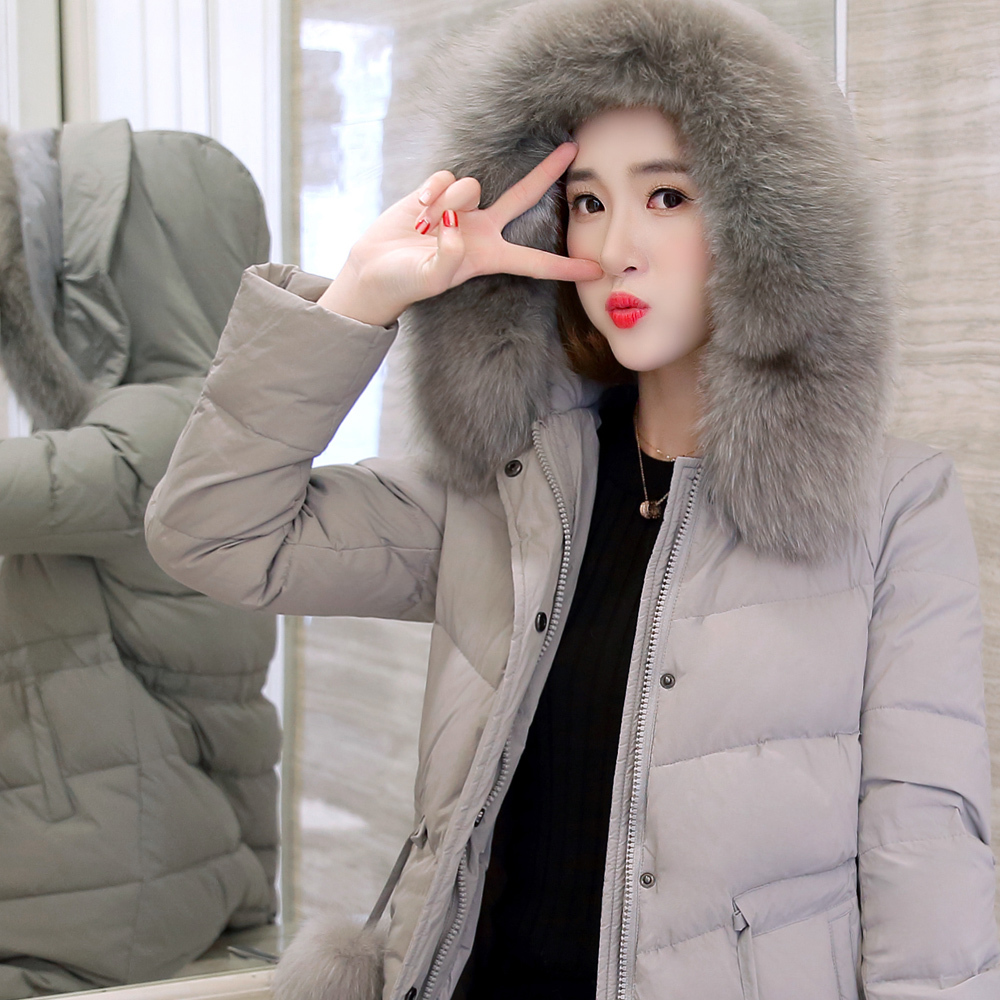 Thick Warm Down Parka Women Duck Down Jacket Female Winter Coat 2020 Ladies Long Coat Natural Raccoon Fur Overcoat 17006