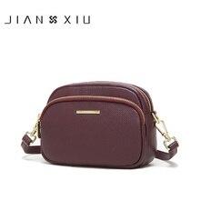 JIANXIU Brand Genuine Leather Luxury Handbags Women Bags Designer Messenger Bags 2020 Small Shoulder Crossbody Bag 2 Color Purse