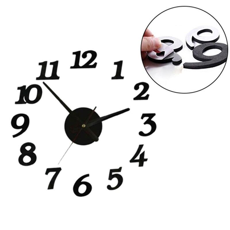 Digital Watch Home Wall Clock Decor Living Room Decor Wall Sticker Relojes Adhesivos Decorativos Para Paredes Home Decor