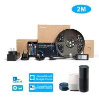 SONOFF L1 2M/5M Smart LED-Licht Streifen Dimmbar Wasserdicht WiFi Flexible RGB Streifen Lichter Voice Control für Alexa Google Hause