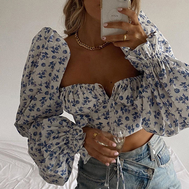 Elegant Vintage Sexy Shirt Tops Chic 2