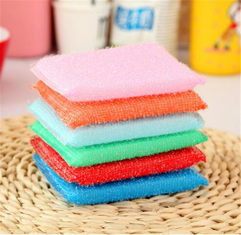Cleaning Cloth Kitchen Nonstick Oil Pad For Washing Towel Bowl Sponge 4Pcs Brush