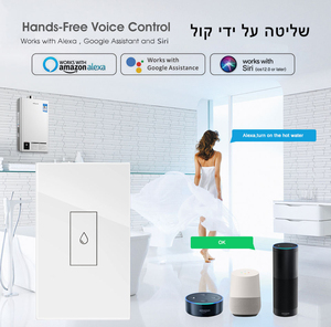 Image 2 - Smart Life Wifi Boiler Water Heater Switches 4400W 20A Voice Control Works Alexa Google Home Timer Function Tuya For Israel