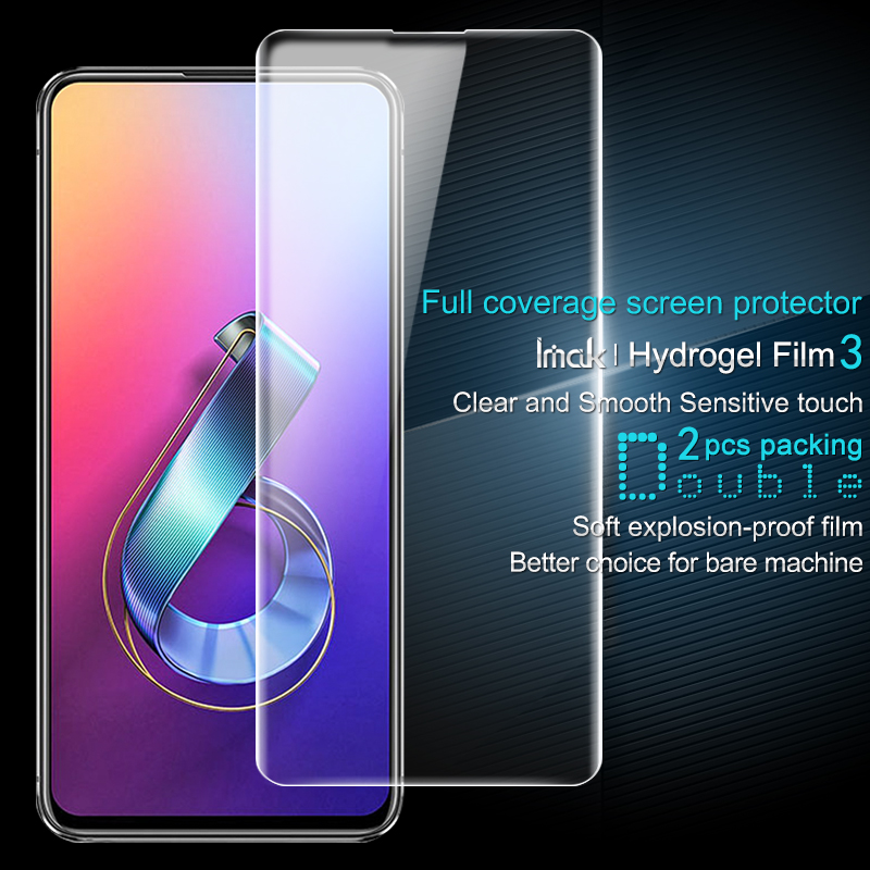 2PCS Full coverage for Asus Zenfone 6 ZS630KL Screen protector and Back protector Imak All Standing Hydrogel Phone Screen Film|Phone Screen Protectors| |  - title=