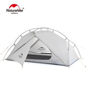 Image 1 - Naturehike ויק סדרת 970g Ultralight יחיד אוהל 15D ניילון עמיד למים קמפינג אוהל שכבה אחת חיצוני טיולים אוהל