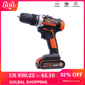 Image 1 - 21V Electric Screwdriver Cordless Drill Wireless Power Driver DC Lithium Ion Battery 3 / 8 inch 2 Speed  Smart Battery Display