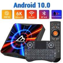 Caixa superior ajustada da tevê 6k/4k do andróide 10 transpeed com wifi muito rápido real 5g 4k youtube 4gb 32gb 64gb bluetooth h616
