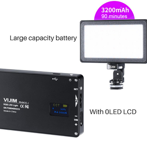 Image 5 - VIJIM VL 2 RGB LED וידאו אור 2500 K 8500 K Dimmable מנורת צילום תאורה עבור Sony ניקון DSLR מצלמות