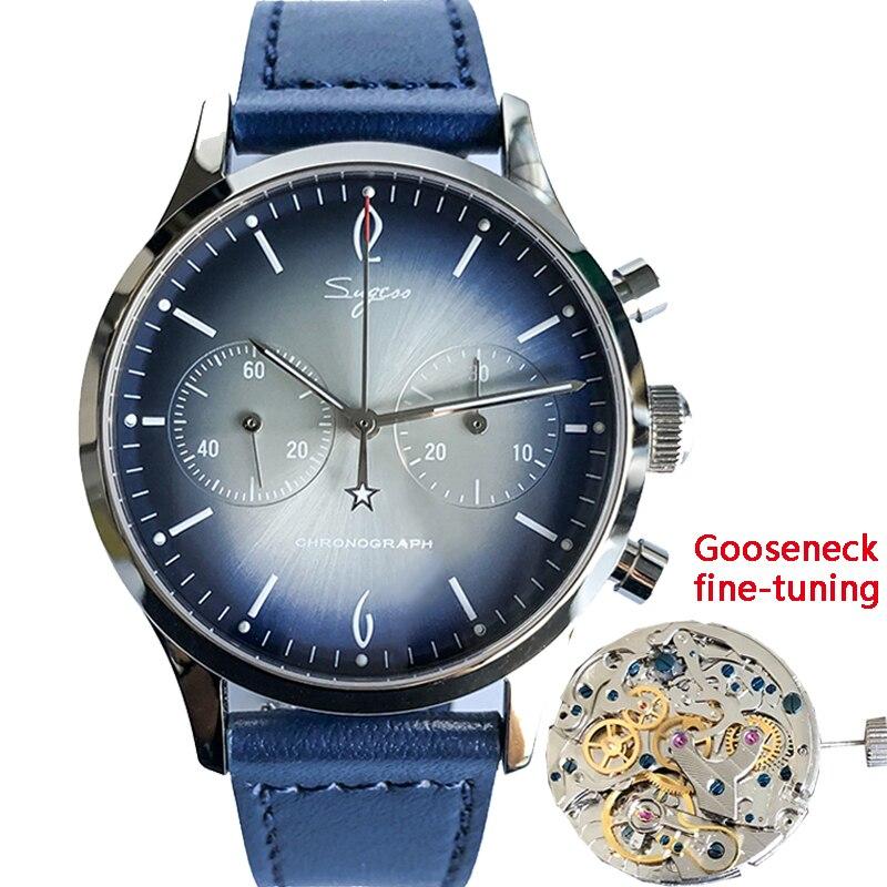 Men Mechanical Gooseneck Chronograph Wristwatches