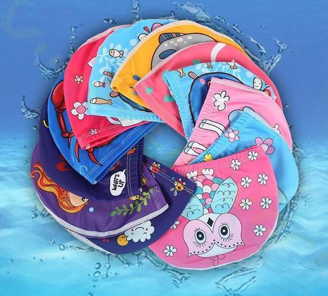 Bonnet de bain élastique pour enfants, pour filles et garçons de 1 à 10 ans 1