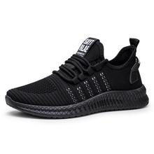 Designer new men shoes mesh breathable comfortable lightweight casual running flying woven technical