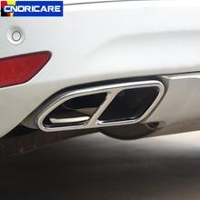 Автомобильный стайлинг хвост выхлопной рамы украшения стикер Накладка для Volvo XC60 2009-16 Нержавеющая сталь хвост вентиляционное отверстие модифицированные аксессуары
